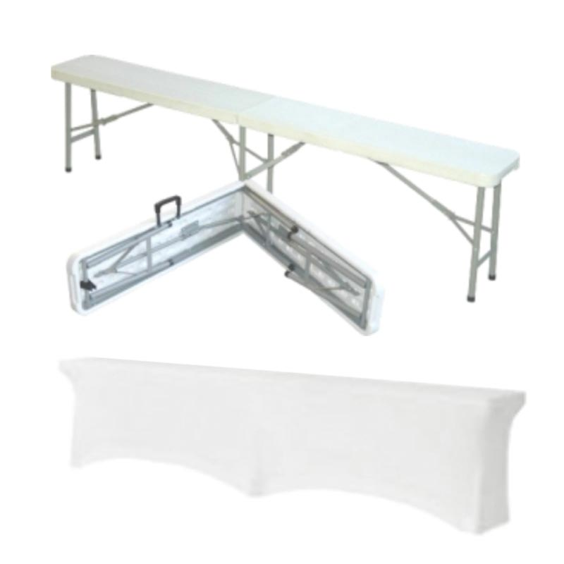 Foldable bench + lycra cover