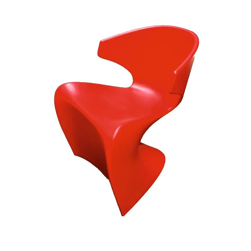Wing chair red